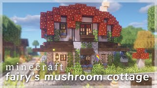 Minecraft] Fairy s Mushroom Cottage 🍄🧚♀️ Building A Server Spawn with CIT Resource Packs YouTube