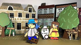 Cartoon - städte- Realisierung des Rates kinder - 2019