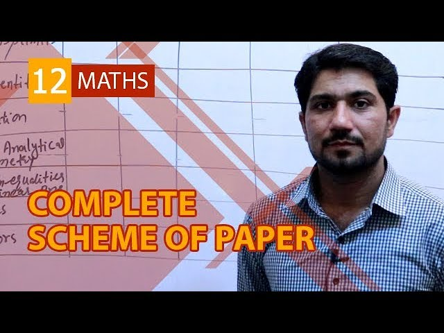 FSc  Maths book 2, Complete Scheme of 12th Class Math Paper - Inter part 2 Math