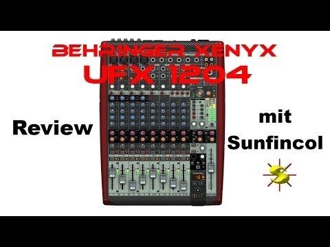 Behringer Xenyx UFX1204 Review Xenyx UFX 1204 Mischpult german