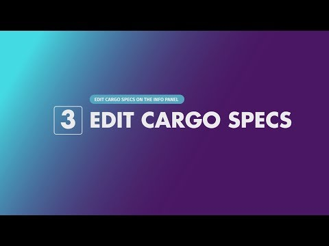 Videck® - Getting Started - Step 03 - Edit Cargo Specs