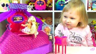 Кровать для куклы Барби Игровой набор распаковка Bed for Barbie doll play set