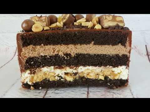 фото торт сникерс