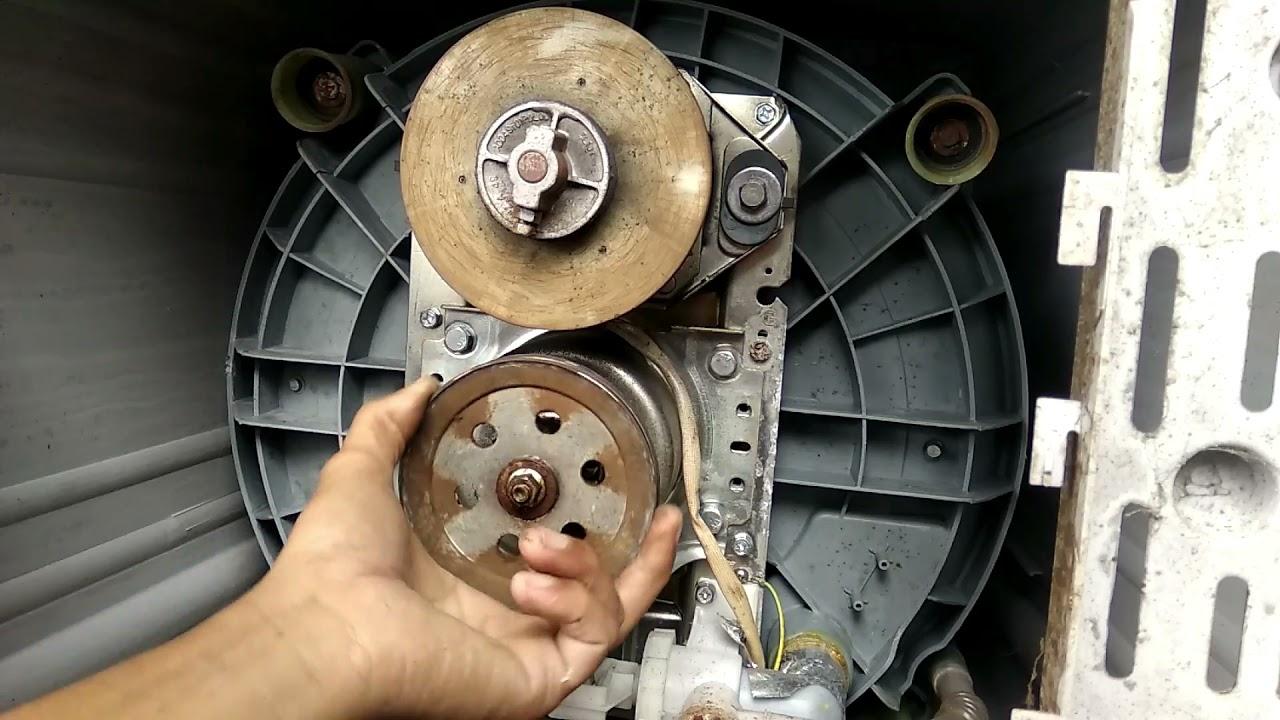 mesin cuci satu tabung gak bisa peras /spin