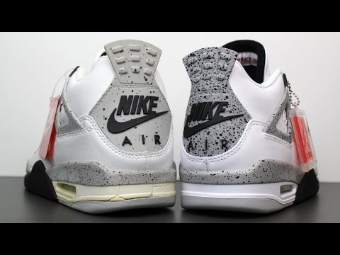 Comparison: 1999 vs 2016 Air Jordan 4 IV Retro White Cement