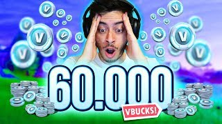 I WENT CRAZY AND BOUGHT 60,000 V-BUCKS! -Fortnite, the