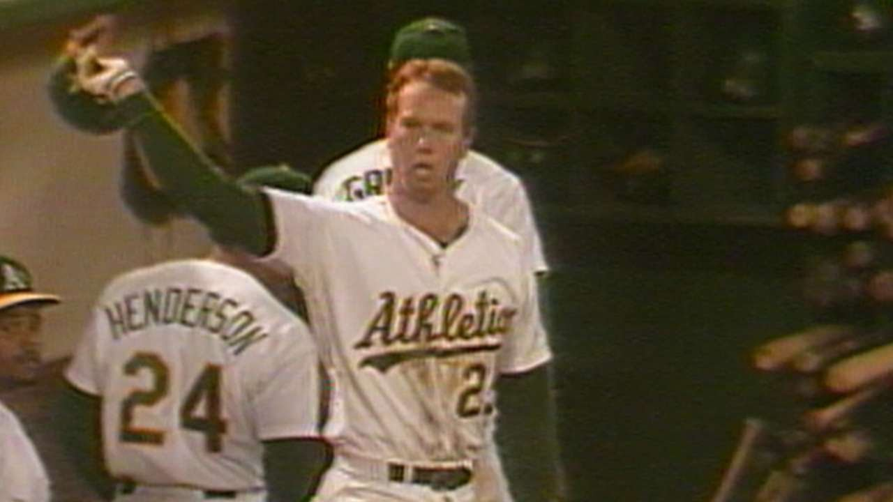 Cws At Oak Mcgwire Hits His 48th Homer Of Rookie Season Youtube