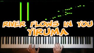 Yiruma - River Flows In You - Piano Cover (Tutorial Synthesia) + FREE SHEETS