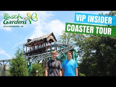 Busch Gardens Williamsburg VIP Insider Roller Coaster Tour 2017! (Part 2)