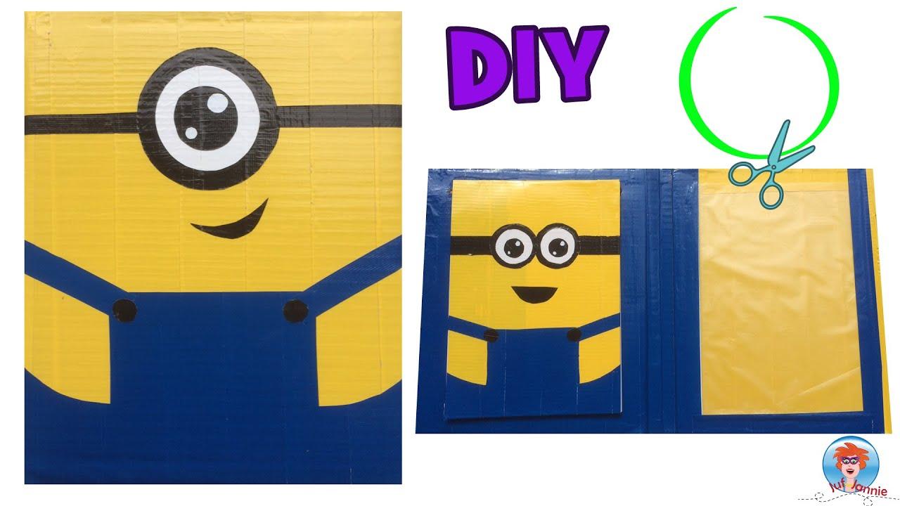 Diy crafts minion maak zelf je eigen map van karton en duct tape youtube - Hoe een kamer van een kind te versieren ...