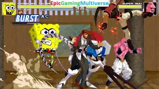 Guilty Gear Characters And SpongeBob SquarePants VS Super Buu In A MUGEN Match / Battle / Fight