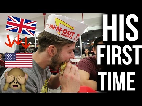 British FIRST Time Trying In-N-Out! (UK To America)