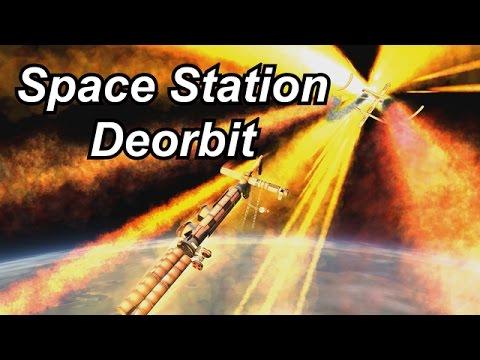 KSP Huge Space Station Deorbit YouTube
