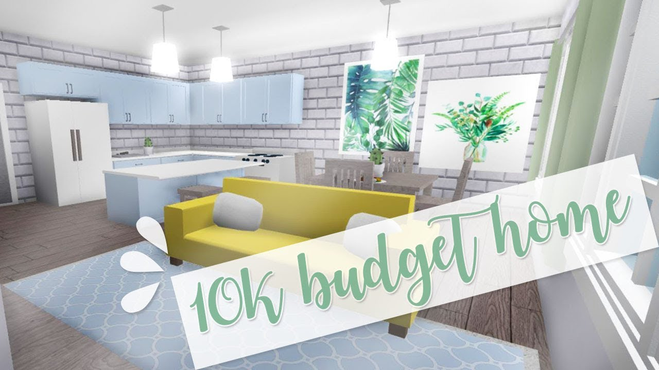 Welcome To Bloxburg: 10k Budget Home - YouTube