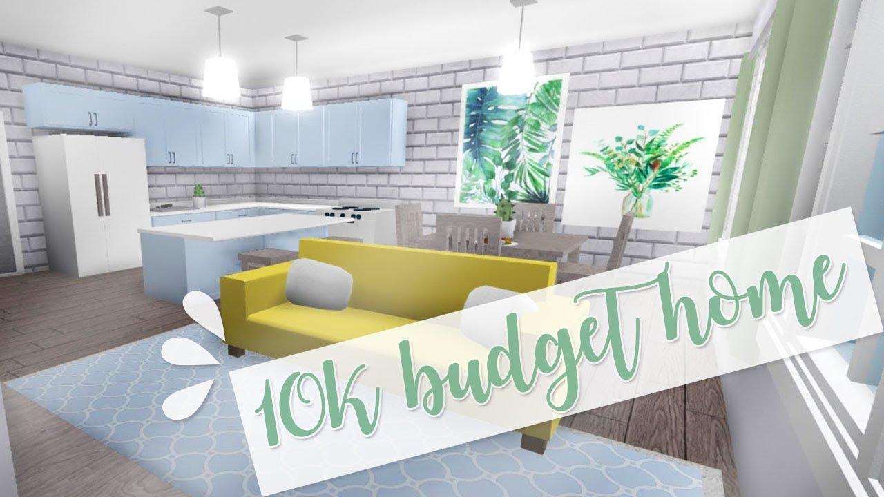 Welcome To Bloxburg: 10k Budget Home - YouTube