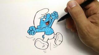 how to draw smurf (cara menggambar smurf)