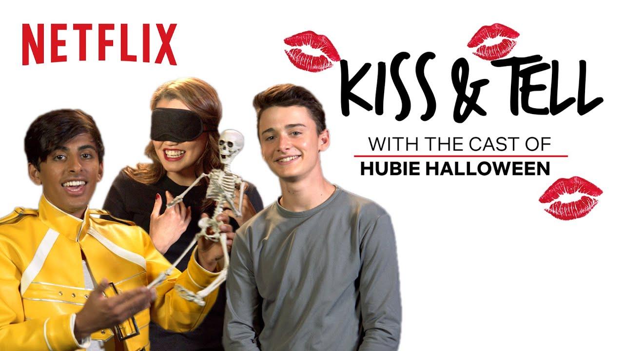 Download Noah Schnapp, Paris Berelc & Karan Brar Play Kiss & Tell | Hubie Halloween | Netflix