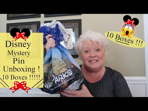 Disney World Mystery Pin Unboxing Haul !! 10 BOXES !! Jammie's, Kingdom of Cute, Its a Small World !