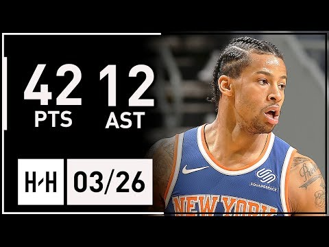 Trey Burke CRAZY Full Highlights Knicks vs Hornets (2018.03.26) - 42 Points, 12 Assists!