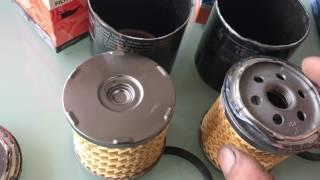 Oil filter comparison