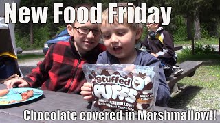 New Food Friday | Taste Test | Stuffed puffs | Chocolate filled marshmallows