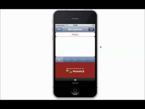 SMS+ Spracheingabe