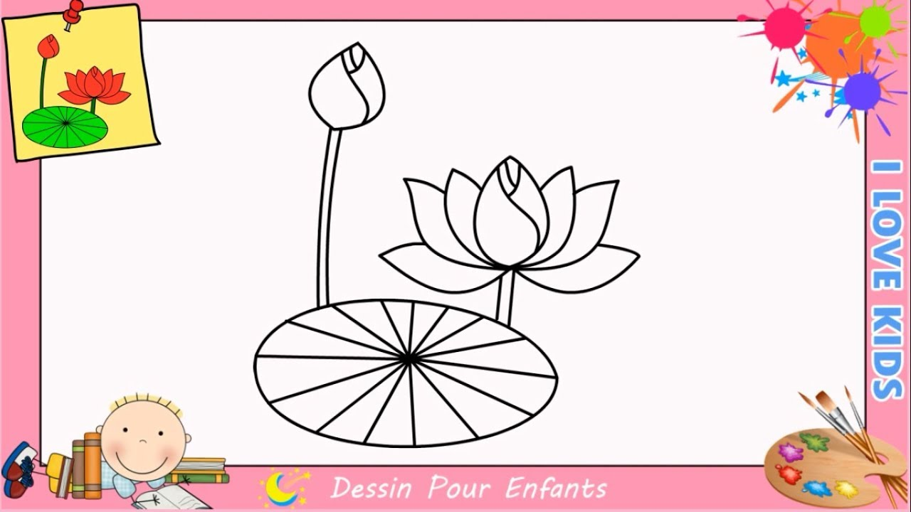 comment dessiner une fleur de lotus facilement etape par etape pour enfants youtube. Black Bedroom Furniture Sets. Home Design Ideas