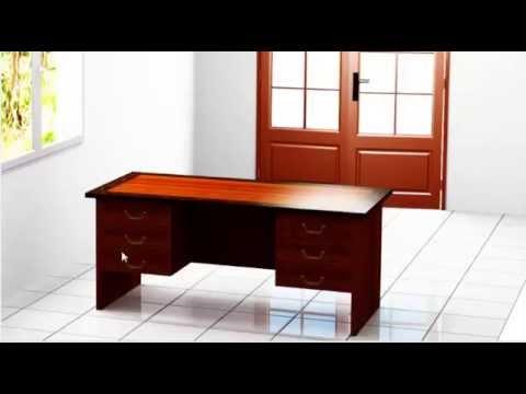 C mo construir escritorio para oficina en forma de l - Como hacer una mesa de escritorio ...