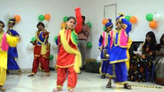Bhangda Dance Performance by AKME BALLET Kids @ Bangalore - 15th August 2013