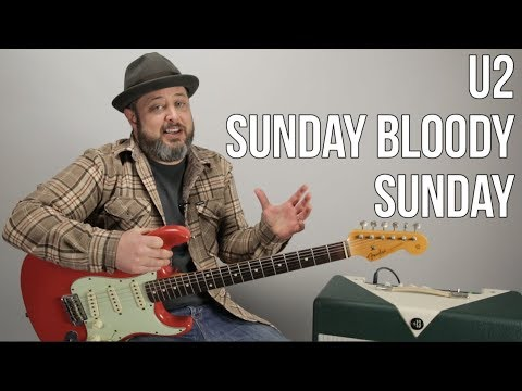"U2 ""Sunday Bloody Sunday"" Guitar Lesson, how to play"