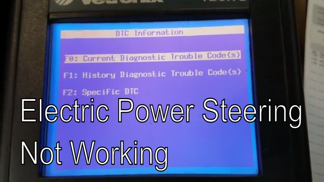 Electric Power Steering Not Working Codes C0550 C0896 (Tech 2 Overview)
