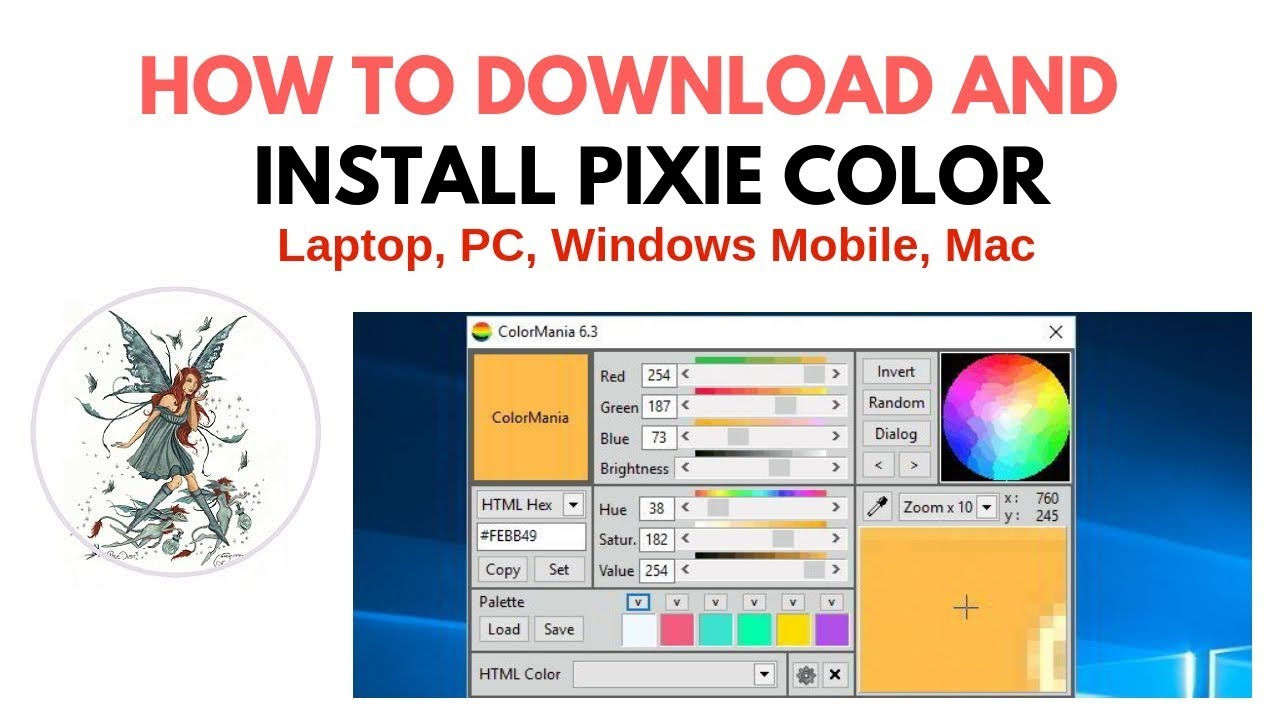 How To Download And Install Pixie Color Picker Software Web Design And Graphic Designer All Pc Youtube
