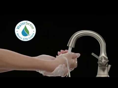 delta sawyer single handle lavatory faucet video