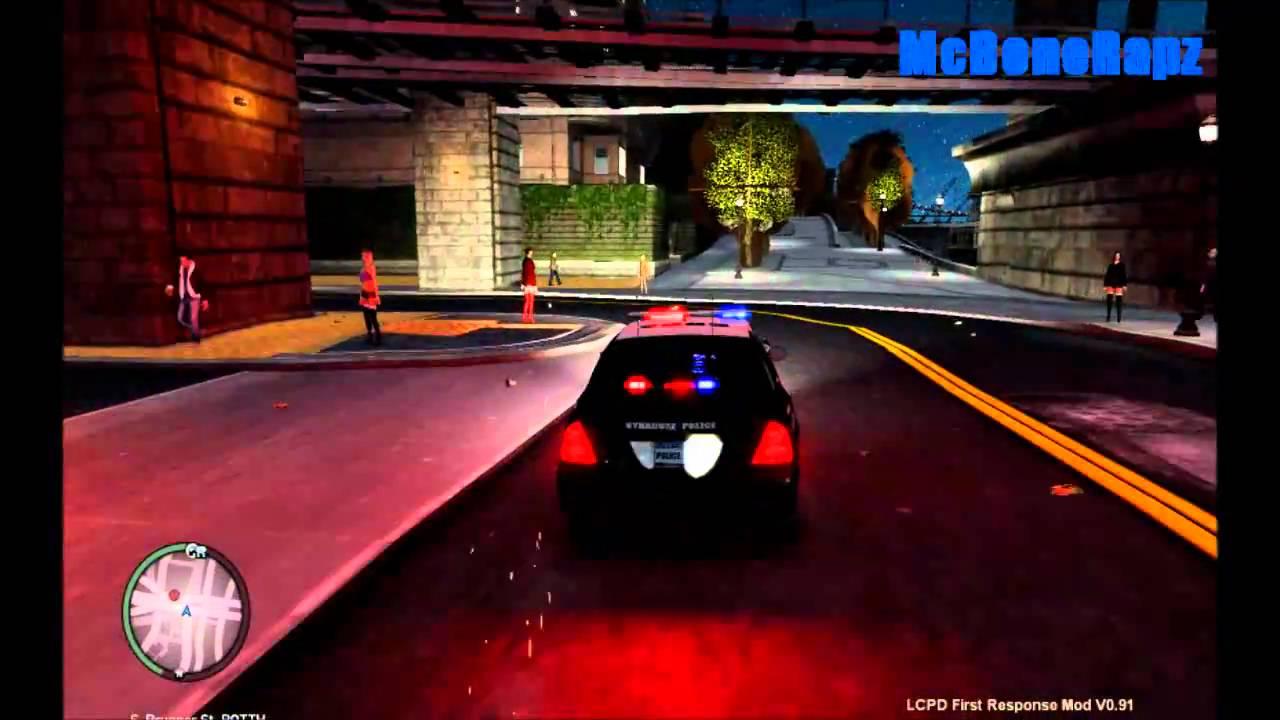 GTA IV Grand Theft Auto 4 LCPDFR Mod Gameplay With PATROL ...