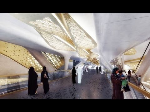 Gold-plated, Ultra-luxurious Riyadh Metro Station New Images