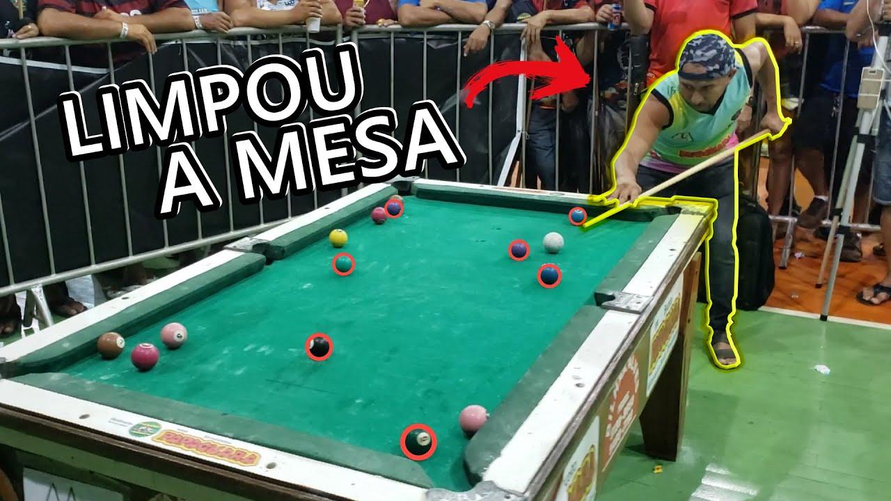 O BRUXO NÃO DA CHANCE PRO ADVERSÁRIO! jogo de sinuca!