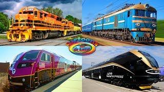 Изучаем цвета и поезда для детей. Развивающее видео про железнодорожный транспорт