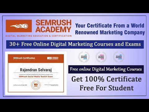 Online Digital Marketing Courses, Exam and Certificate | SEMrush Academy