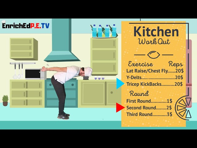PE CHEF S11E1: 🥫Kitchen Workout 🍊(with water bottles , cans, or even fruit!) // Deltoids & Triceps