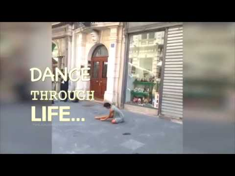 Shy Palestinian Girl Dancing In Italy