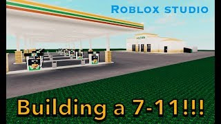 BUILDING A 7-11 WITH MY FRIEND!!! Roblox studio