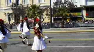 Evzones Greek Independence Day Parade Athens 2011