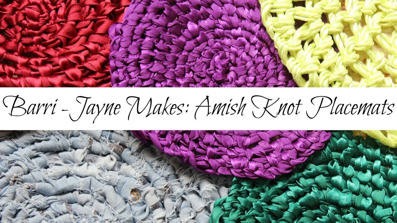 How To Make Amish Knot Trivets Placemats Toothbrush Rag Rug Tutorial