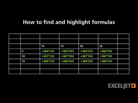 How to find and highlight formulas