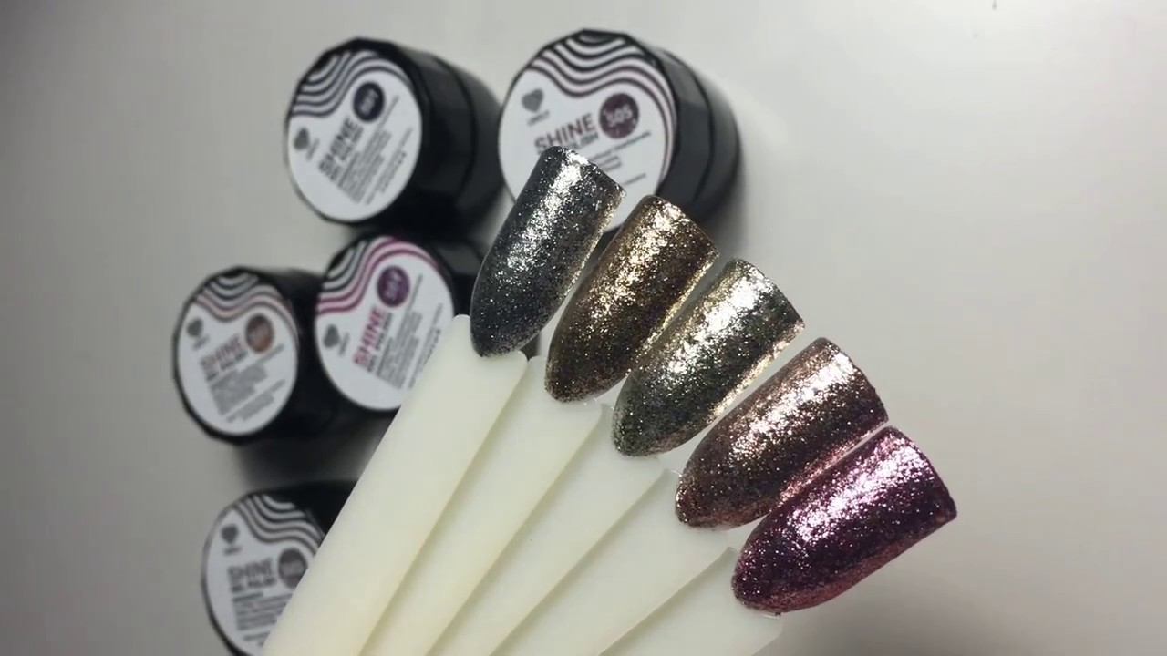 Литье: фольга на гель краску. Дизайн ногтей цветы на ногтях гель .