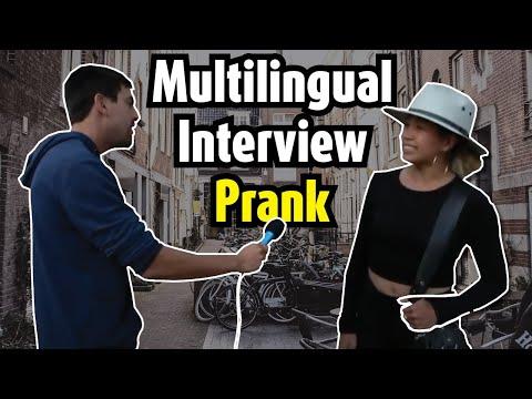 Multilingual interview prank