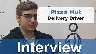 Delivery driver hut Pizza