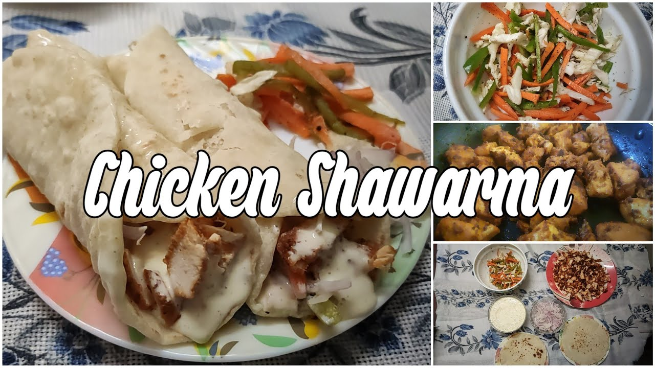 Chicken Shawarma at home | Shawarma Bread or Kuboos With and Without yeast | With English Subtitle