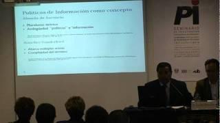 Seminario sobre Políticas de Información - Mesa Redonda 1 - Parte 3-8
