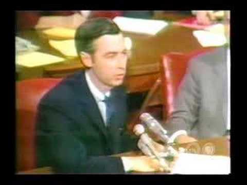 Mr Rogers 6 Minute 20 Million Presentation To The U S Senate Youtube